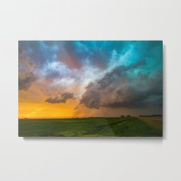 Glorious - Stormy Sky and Kansas Sunset Metal Print