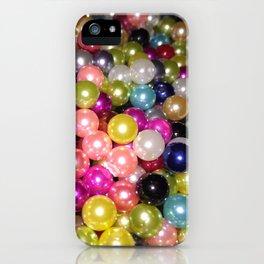 Rainbow beads iPhone Case