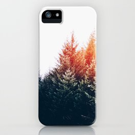 Waking up in a forest iPhone Case