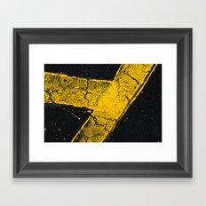 asphalt 1 Framed Art Print