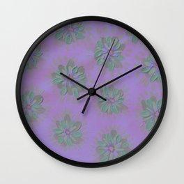 Plum Petal Rose Wall Clock