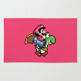 Pixelated Super Mario World with Yoshi Rug