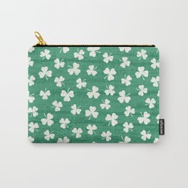 DANCING SHAMROCKS on green Carry-All Pouch