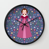 belle Wall Clocks featuring Belle by Carly Watts