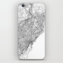 Barcelona White Map iPhone Skin