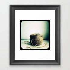 String Framed Art Print