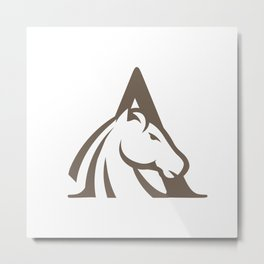 Initial Horse Letter A Metal Print