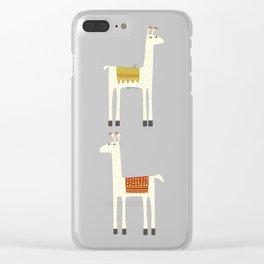 Everyone lloves a llama Clear iPhone Case