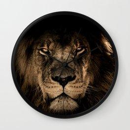 Fierce Proud Lion Fade Wall Clock