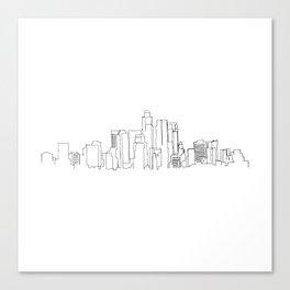 Los Angeles Skyline Drawing Canvas Print