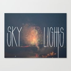 SKY LIGHTS Canvas Print