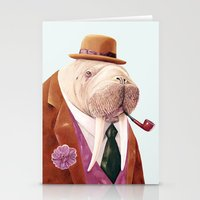 walrus Stationery Cards featuring Walrus by Animal Crew
