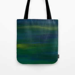 Navy, Peacock Green Abstract Tote Bag