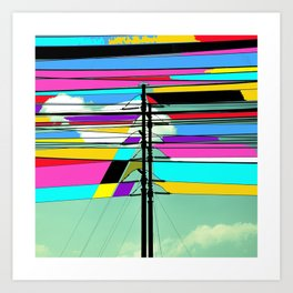COLLAGE DIGITAL COLORFUL Art Print