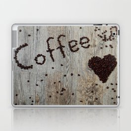 Love Coffee in Beans - Cafe or Kitchen Decor Laptop & iPad Skin