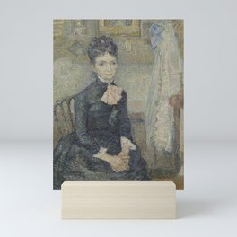 Portrait of Léonie Rose Charbuy-Davy Mini Art Print