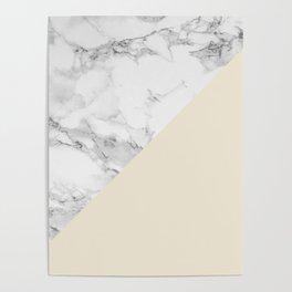 Marble + Pastel Cream Poster