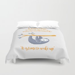 Sleeping is the best thing! Duvet Cover