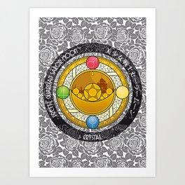 Sailor Moon - Crystal Transformation Brooch Art Print