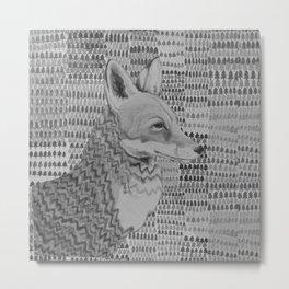 Foxportrait Metal Print