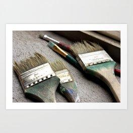 Brush Up Art Print