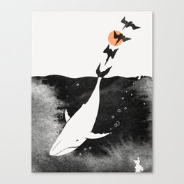 Dive into Happiness Canvas Print