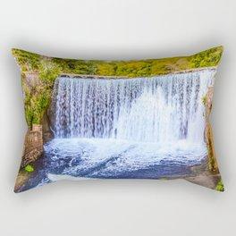 Monk's waterfall Rectangular Pillow