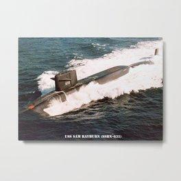 USS SAM RAYBURN (SSBN-635) Metal Print