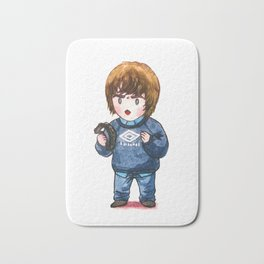 Liam Gallagher with his Tambourine Bath Mat