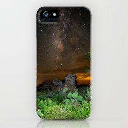 Milky Way over Texas iPhone Case