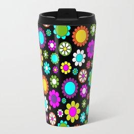 Mod Flower Pattern Travel Mug