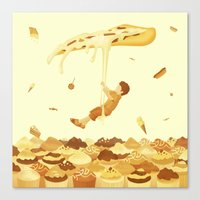 food Canvas Prints featuring Food by Alendro