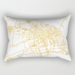 SHANGHAI CHINA CITY STREET MAP ART Rectangular Pillow