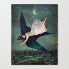 fly me to paris Canvas Print