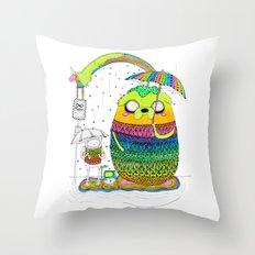 Adventure time Totoro by Luna Portnoi Throw Pillow
