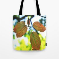 trout Tote Bags featuring Trout & Trails by Emma Deer