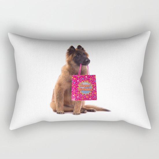 Birthday dog Rectangular Pillow
