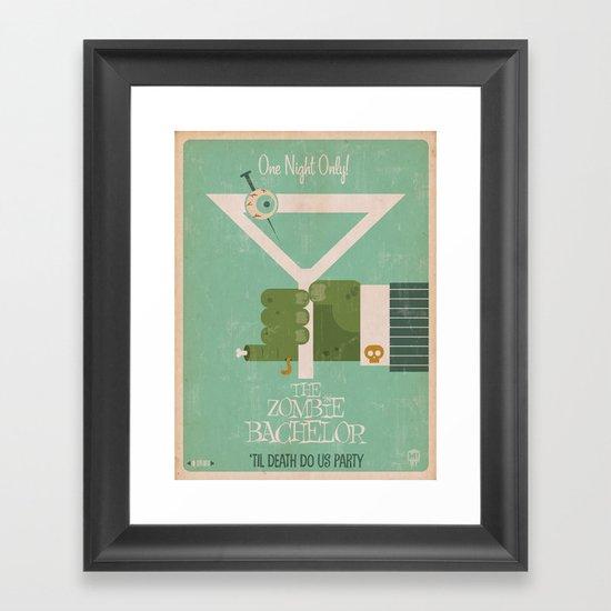 The Zombie Bachelor Framed Art Print