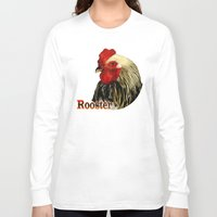 rooster Long Sleeve T-shirts featuring Rooster by LudaNayvelt