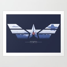 The Captain (Stars and Stripes) Art Print