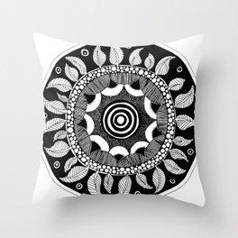 Datura Seed Pod Throw Pillow