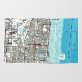 Fort Lauderdale Florida Map (1985) Rug