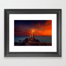 Going to the Lighthouse Framed Art Print