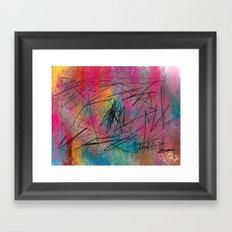 Facing Randomness. Framed Art Print