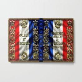 Vintage 18th Regiment French Battle Flag of Napoleon III Metal Print