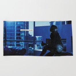 how do you know when to leave and when to stay? Beach Towel