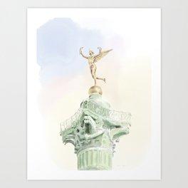 Colonne de Juillet , Place de la Bastille Art Print