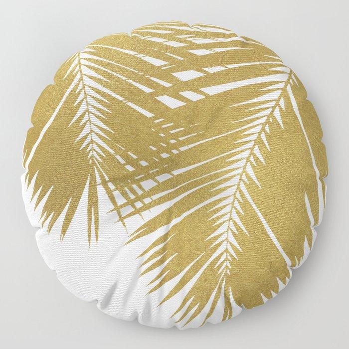Palm Leaf Gold II Floor Pillow