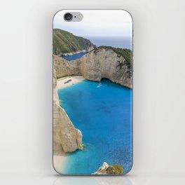 Navagio Beach with Shipwreckon Zakynthos Island, Greece iPhone Skin