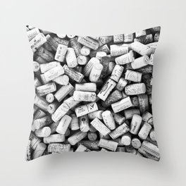 Something Nostalgic II Twist-off Wine Corks in Black And White #decor #society6 #buyart Throw Pillow
